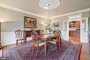 Classic dining room with beautiful trim - 37239 HUNT VALLEY LN, PURCELLVILLE