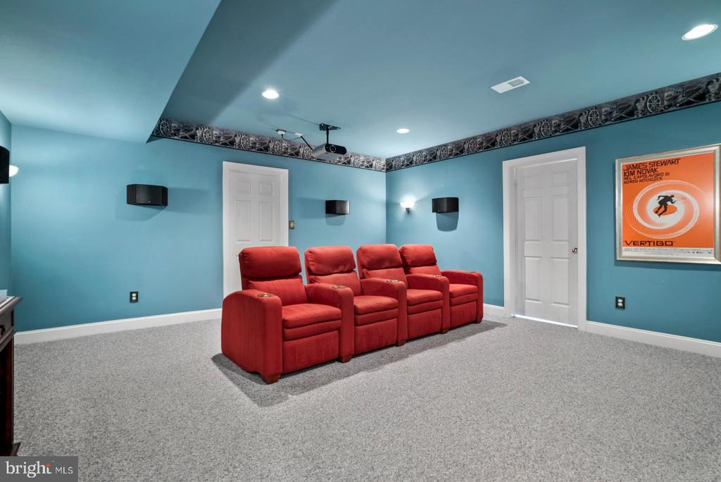 Amazing media room on the finished lower level. - 37239 HUNT VALLEY LN, PURCELLVILLE