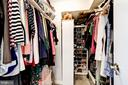 Large walk-in closet in the owner's suite - 250 S REYNOLDS ST #801, ALEXANDRIA
