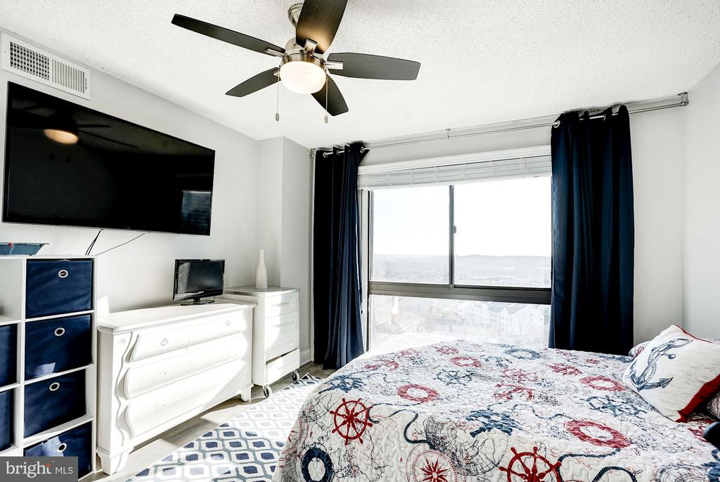 Second bedroom upstairs - 250 S REYNOLDS ST #801, ALEXANDRIA