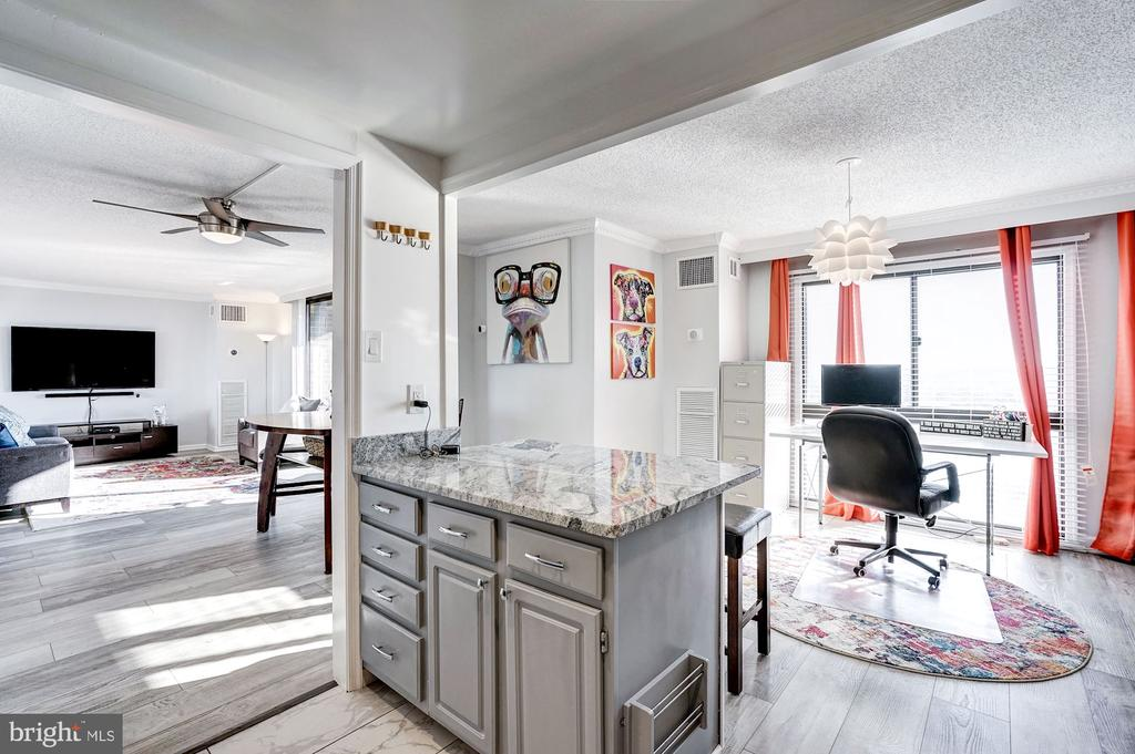 Kitchen overlooks the dining & living room - 250 S REYNOLDS ST #801, ALEXANDRIA
