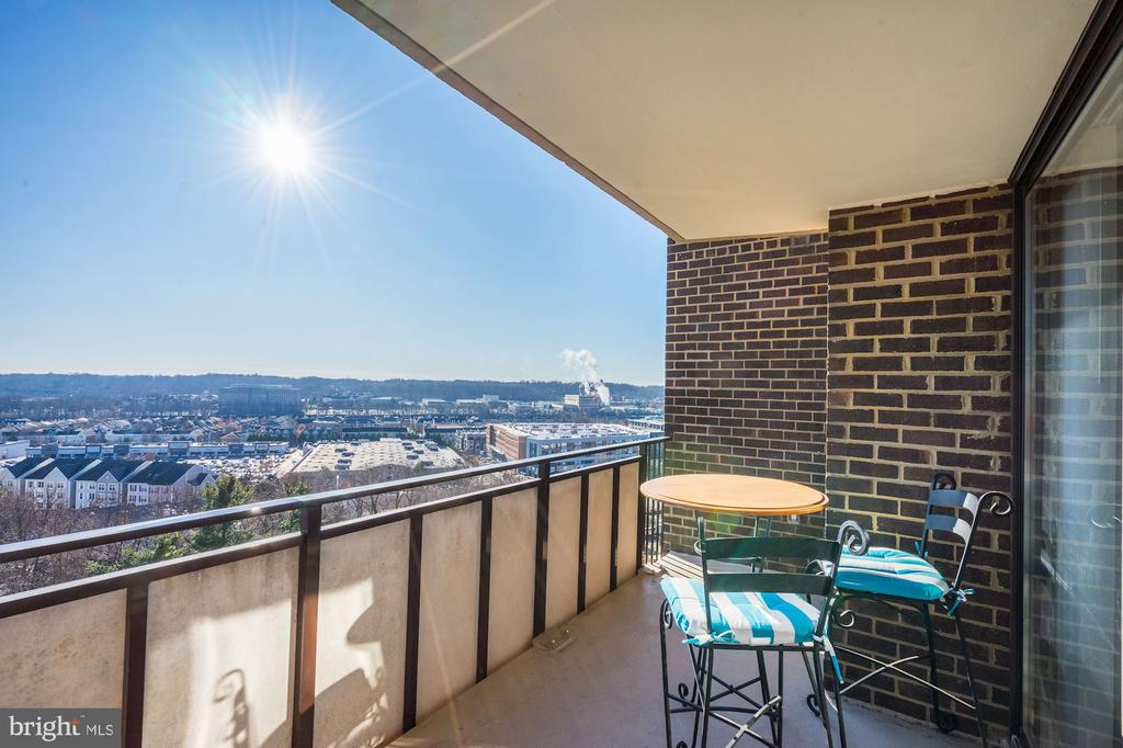 Spectacular views from your TWO balconies - 250 S REYNOLDS ST #801, ALEXANDRIA