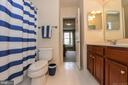 Upper level full bath with double vanity. - 6720 BOX TURTLE, NEW MARKET