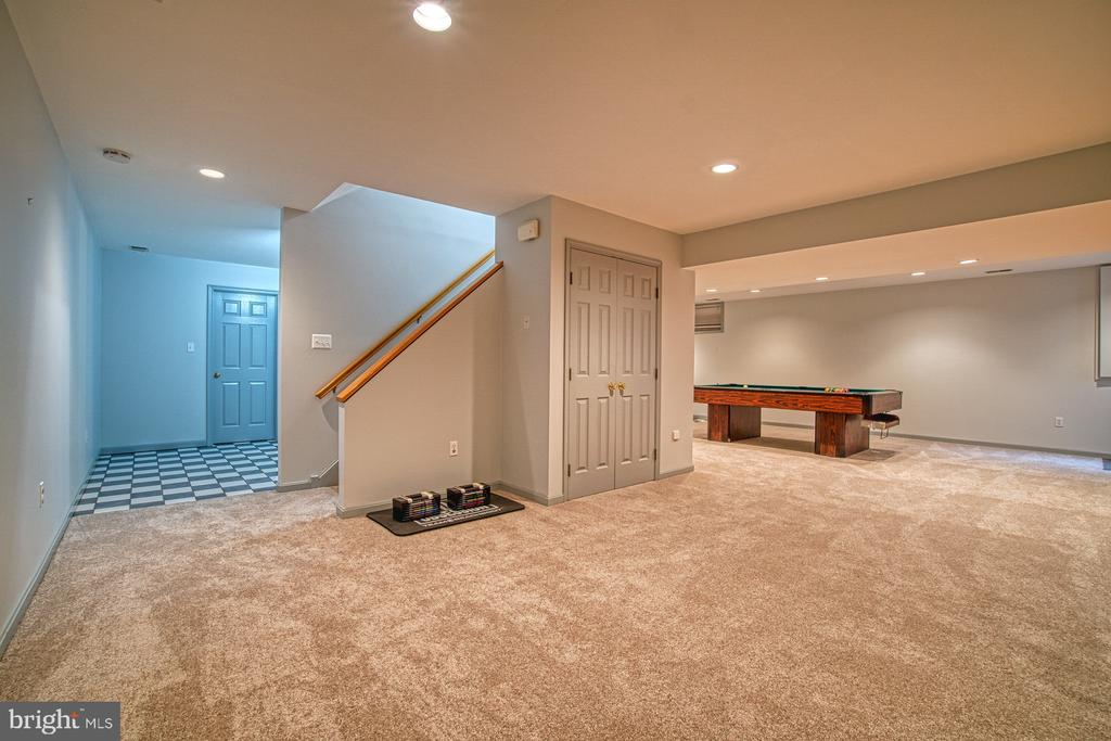 Lower Level Family/Media Room - 3896 GLENBROOK RD, FAIRFAX
