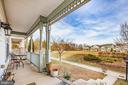Front Porch  overlooking large field - 1609 GAYLE TER, FREDERICKSBURG