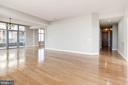 Open Concept living room and dining room - 11990 MARKET ST #1714, RESTON