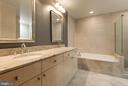 Master bath double vanity - 11990 MARKET ST #1714, RESTON