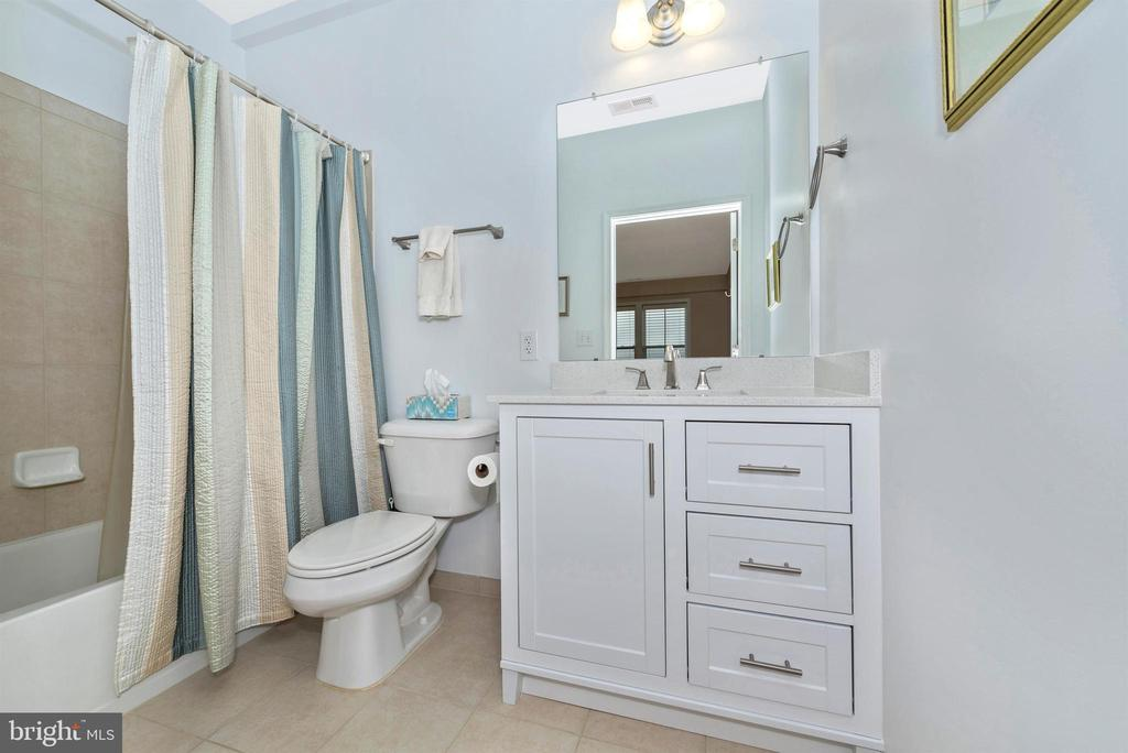 Bathroom from Bedroom 2 - 3030 MILL ISLAND PKWY #408, FREDERICK