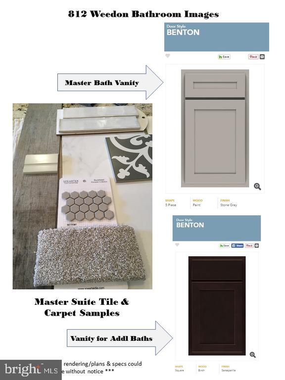 Sample of Bathroom Vanities, Tile and Flooring - 812 WEEDON ST, FREDERICKSBURG