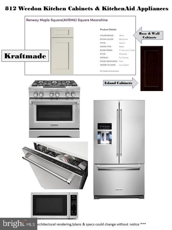 Kitchen Appliances and Cabinets - 812 WEEDON ST, FREDERICKSBURG