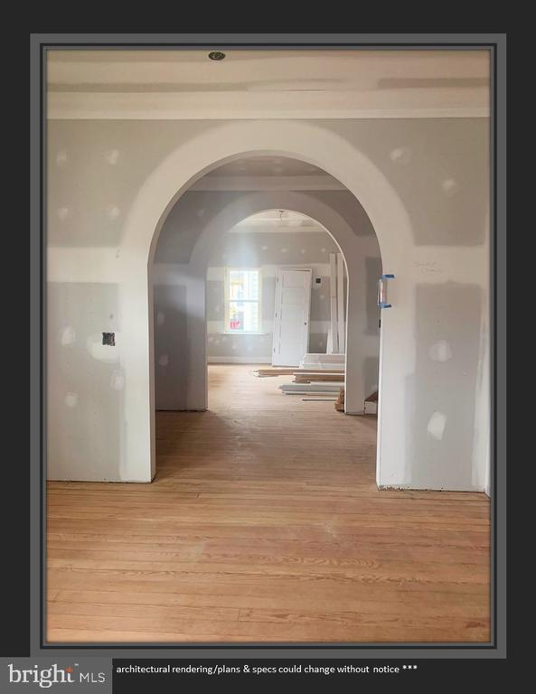 View from Dining Room, Into Foyer and Beyond - 812 WEEDON ST, FREDERICKSBURG