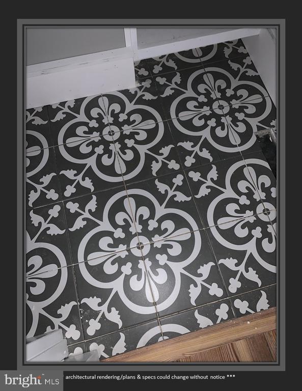 Flooring in Powder Room - 812 WEEDON ST, FREDERICKSBURG