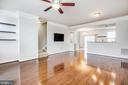Open-concept living, 55 inch tv conveys - 4515 POTOMAC HIGHLANDS CIR #133, TRIANGLE