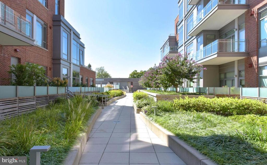 Manicured Courtyard! - 601 N FAIRFAX ST #304, ALEXANDRIA