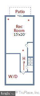 Lower level floor plan - 2014 SWANS NECK WAY, RESTON