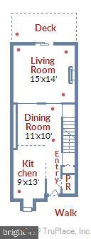 Main level floor plan - 2014 SWANS NECK WAY, RESTON