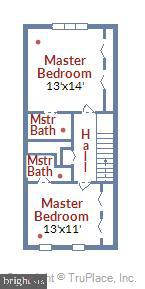 Upper level floor plan - 2014 SWANS NECK WAY, RESTON