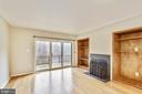 Living room w/sliding glass door to deck - 2014 SWANS NECK WAY, RESTON