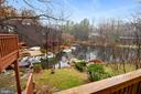 Serene lake view from deck - 2014 SWANS NECK WAY, RESTON