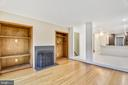 Living room w/built ins & wood burning fireplace - 2014 SWANS NECK WAY, RESTON