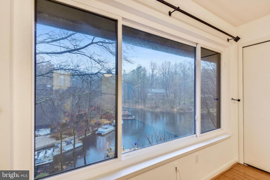 Lake view from Master bedroom #1 - 2014 SWANS NECK WAY, RESTON
