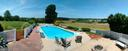 Outdoor pool area overlooking the view. - 3812 SAINT CLAIR CT, MONROVIA
