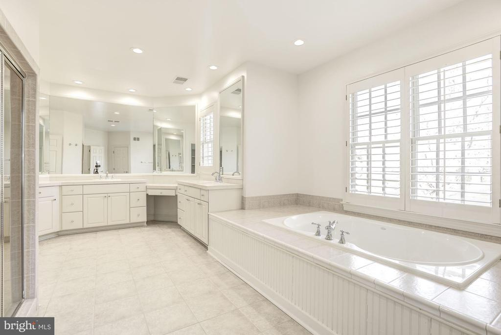 Light Filled Master Bath w/ Luxurious Soaking Tub - 1006 BRYAN POND CT, MCLEAN