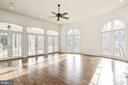 3 sets of French Doors open to the Covered Porch - 1006 BRYAN POND CT, MCLEAN