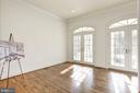 Main Level Study with French Door to Porch - 1006 BRYAN POND CT, MCLEAN