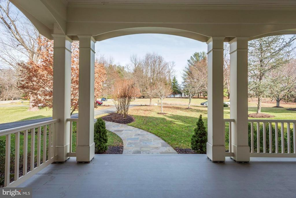 View from Entrance/Front Porch - 1006 BRYAN POND CT, MCLEAN