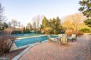 Patio Overlooking Pool and Tennis Court - 9927 S GLEN RD, POTOMAC