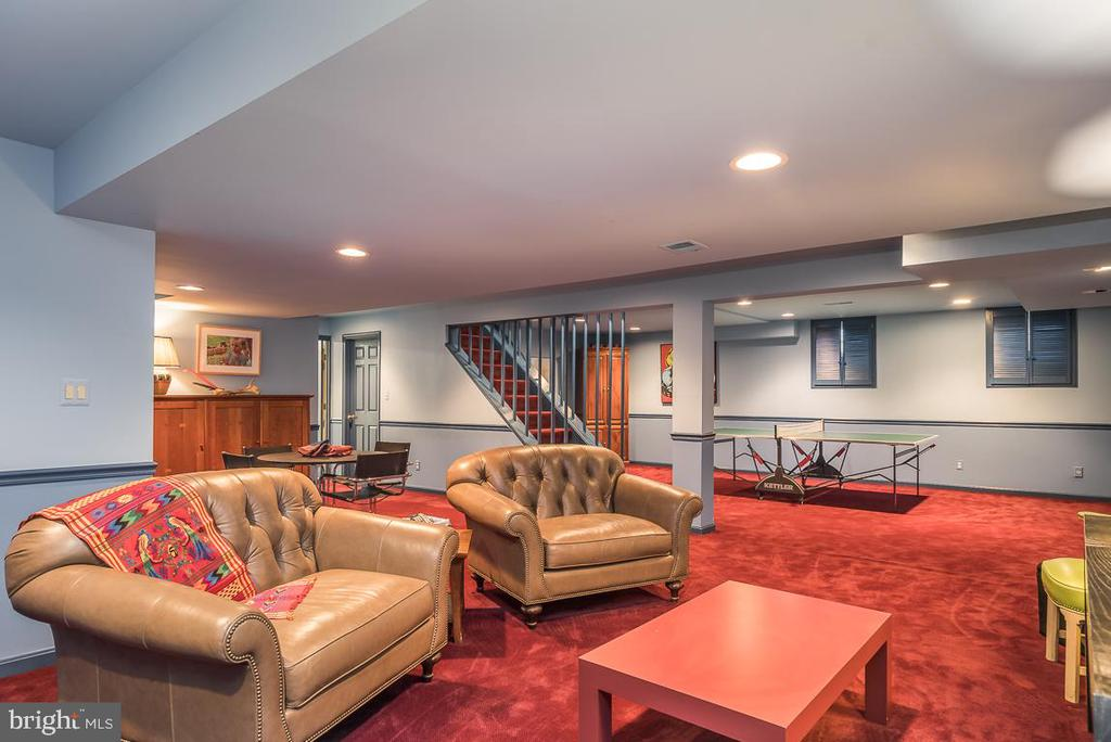 Expansive Recreational Area with Fireplace - 9927 S GLEN RD, POTOMAC