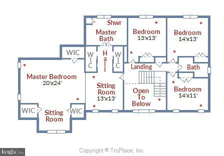 Floor Plan - Upper Level - 43347 BUTTERFIELD CT, ASHBURN