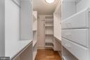 Walk in closet with built-ins in quest bedroom - 601 N FAIRFAX ST #404, ALEXANDRIA