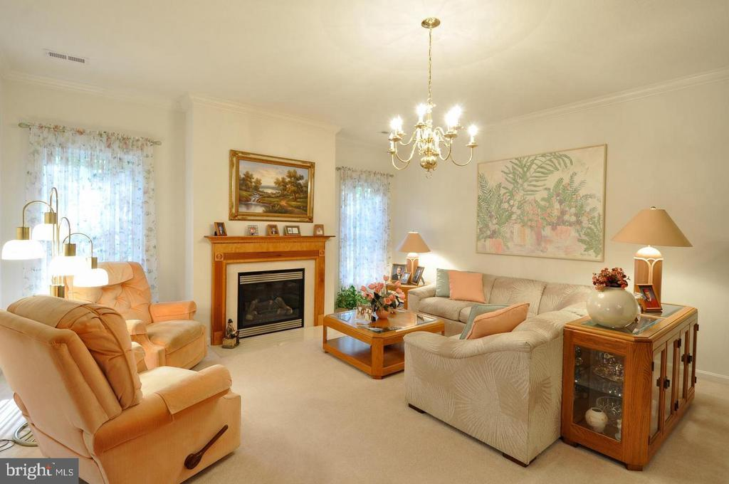 formal living room with gas fireplace - 9325 WYNDHAM HILL LN, SPOTSYLVANIA