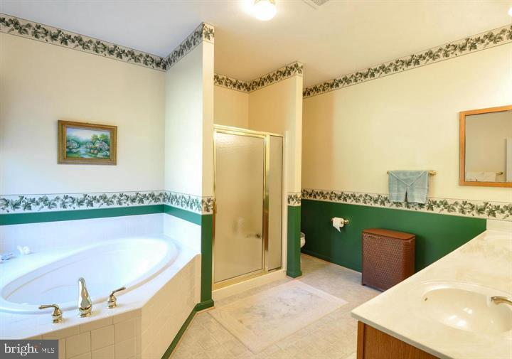 Soaking tub in master bath - 9325 WYNDHAM HILL LN, SPOTSYLVANIA