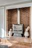 Wood Stove in Family Room - 132 N DONELSON ST, ALEXANDRIA