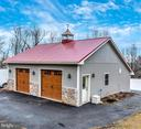 Detached two car garage with heat and cupola - 7235 WOODVILLE RD, MOUNT AIRY