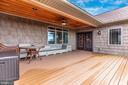 Upper level deck - 7235 WOODVILLE RD, MOUNT AIRY