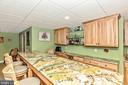Bar Area with granite - 7235 WOODVILLE RD, MOUNT AIRY