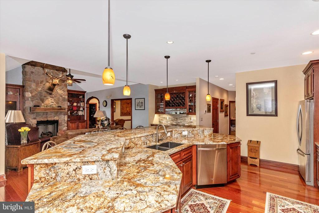 Kitchen  Island with this gorgeous granite - 7235 WOODVILLE RD, MOUNT AIRY