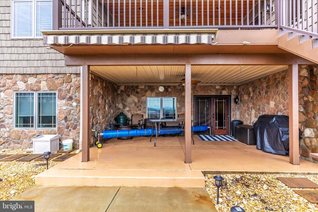 Lower level covered patio - 7235 WOODVILLE RD, MOUNT AIRY
