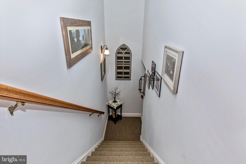 Stairs to Lower Level - 7235 WOODVILLE RD, MOUNT AIRY