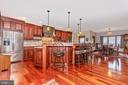 Gourmet kitchen - 7235 WOODVILLE RD, MOUNT AIRY