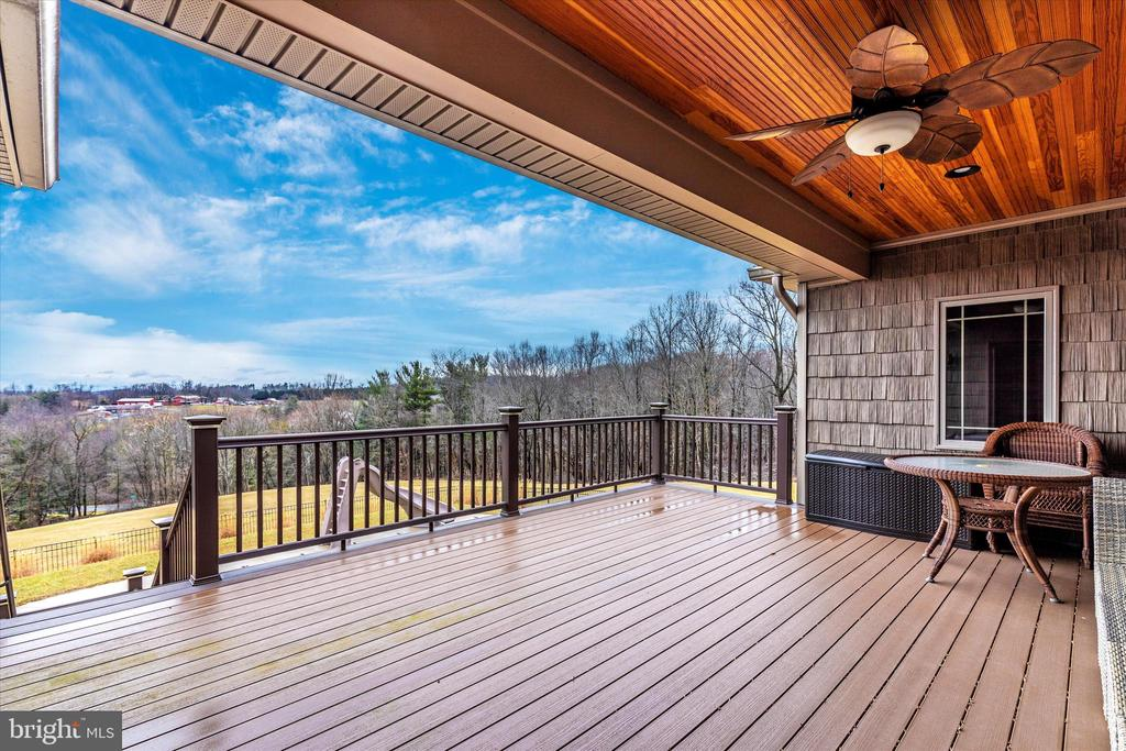 Upper level covered deck - 7235 WOODVILLE RD, MOUNT AIRY