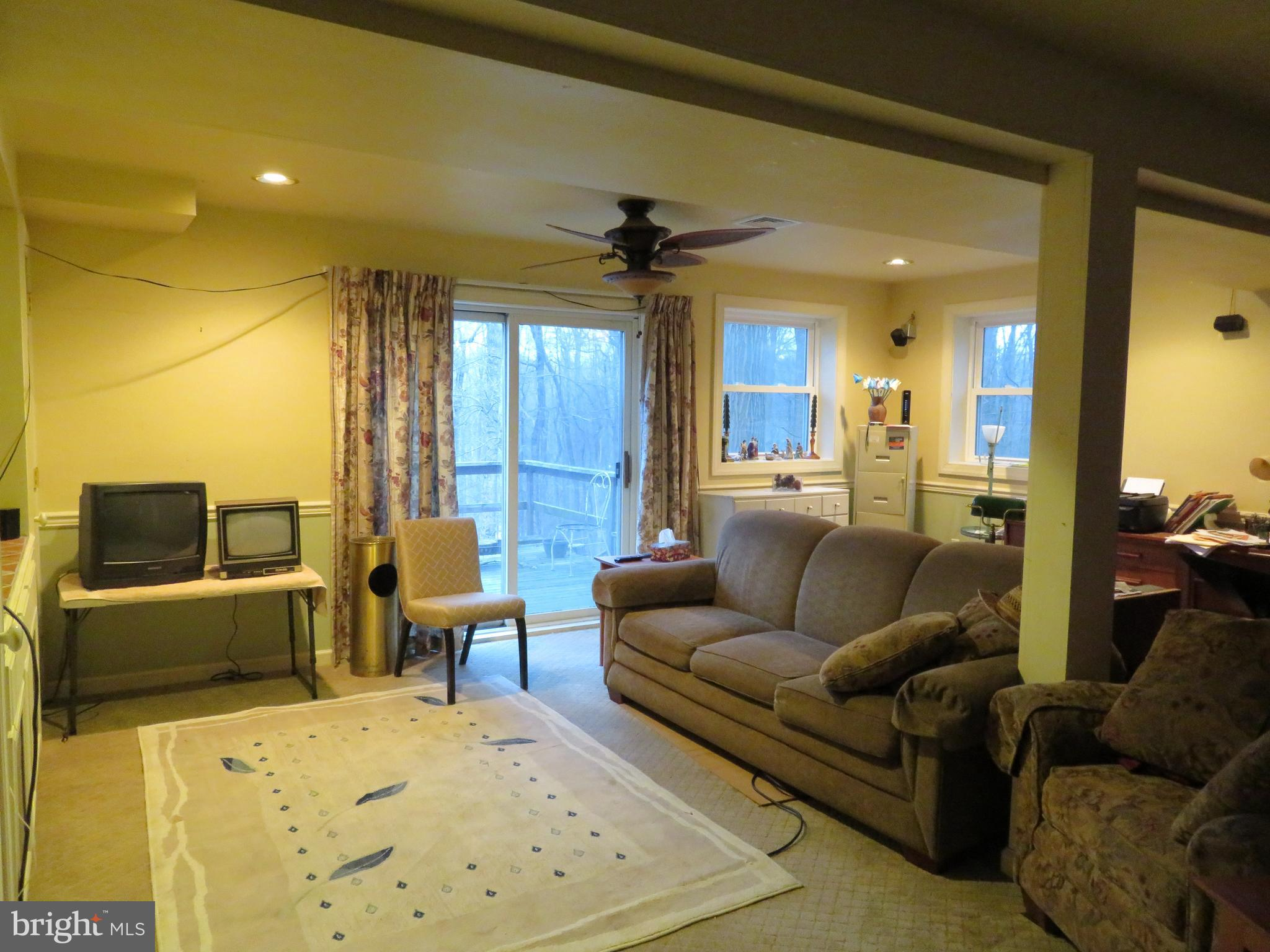 Family Room with deck access!