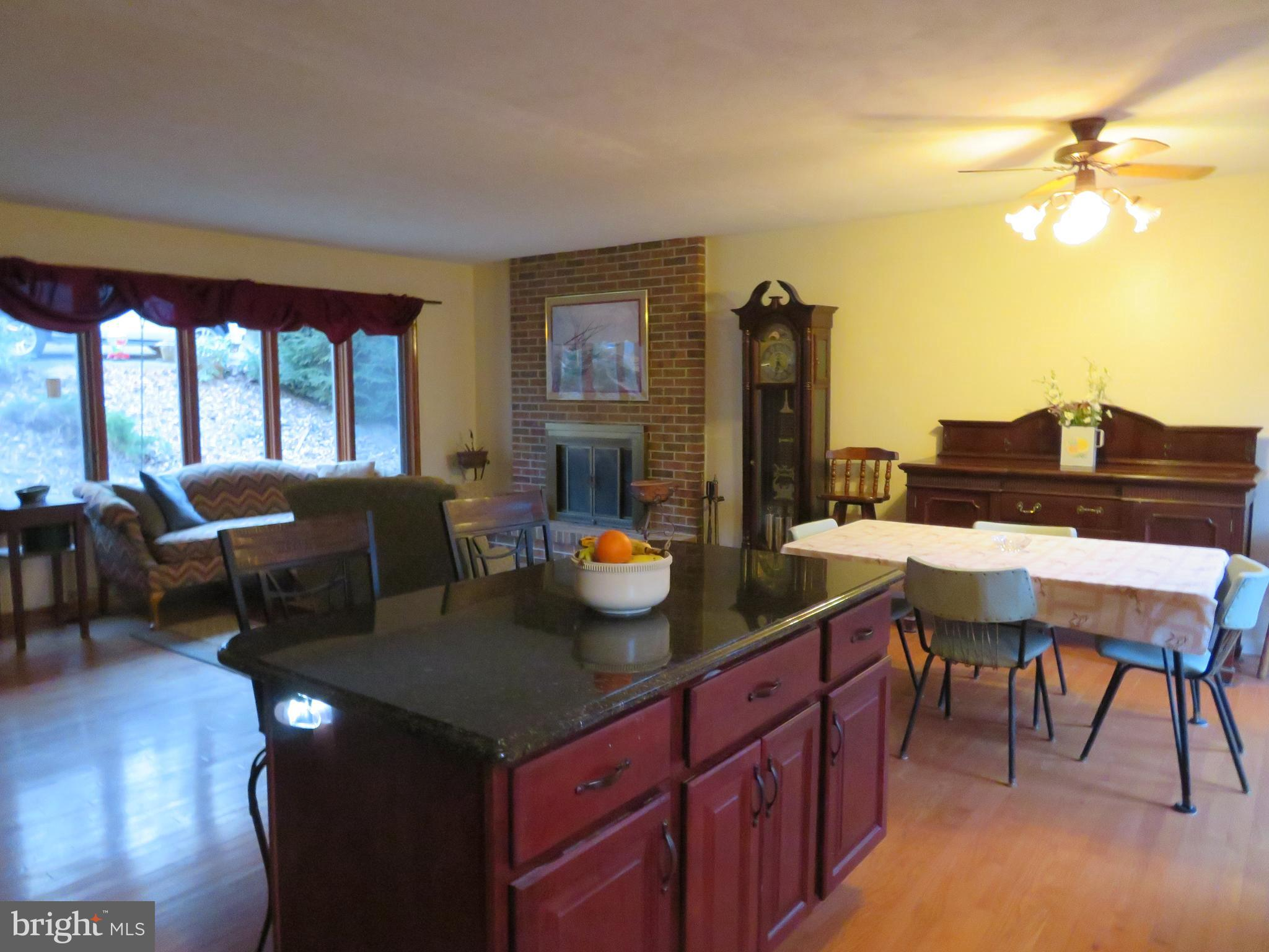 Kitchen into Living room and dining room!