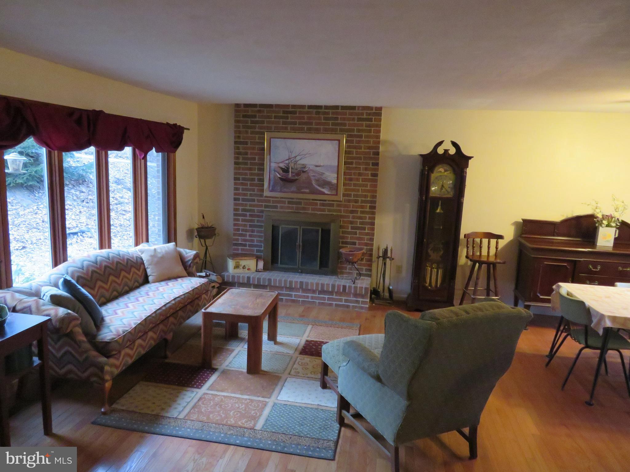Living room with hardwood floor!