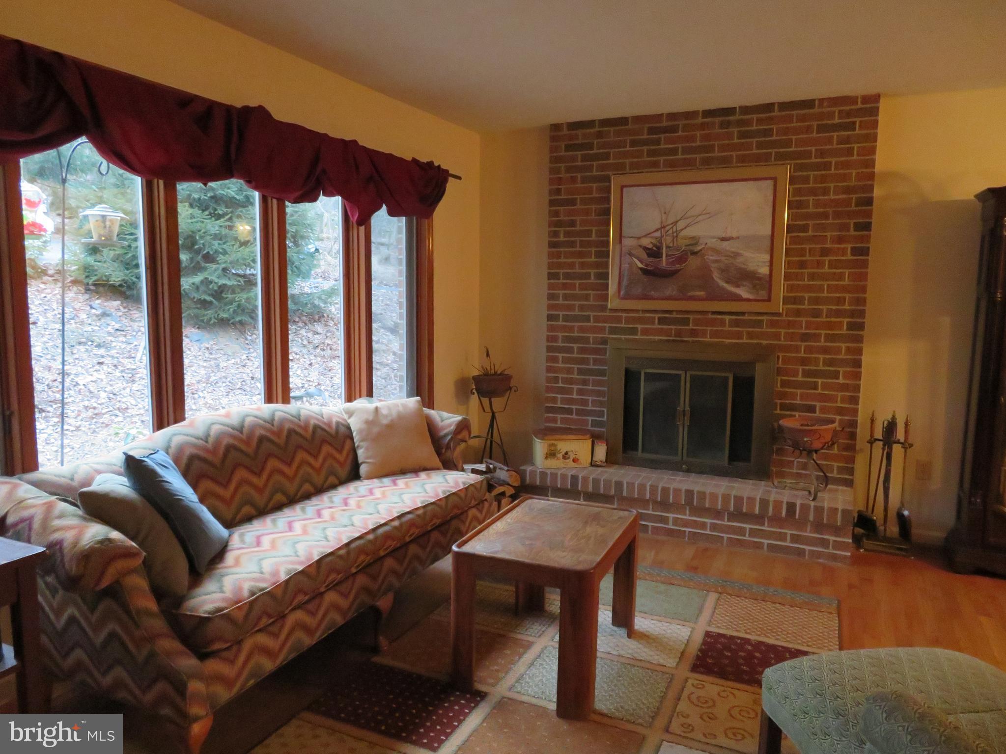 Brick fireplace!