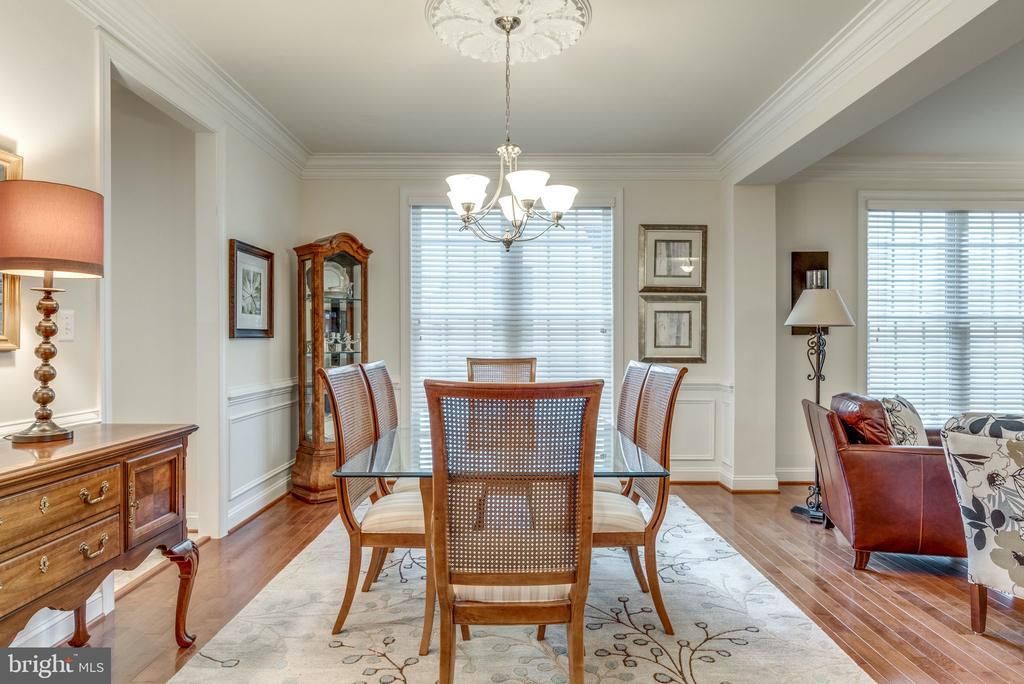 Dining Room with Floor to Ceiling Windows - 21431 FAIRHUNT DR, ASHBURN